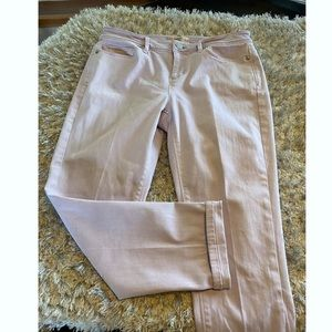 J Jill Light Lavender Slim Ankle Jeans